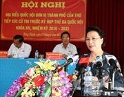 Chủ tịch Quốc hội tiếp xúc cử tri quận Cái Răng, Cần Thơ