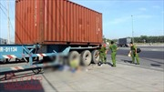Rơi vào 'điểm mù' của xe container, người đi xe gắn máy tử vong tại chỗ
