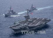 Triều Tiên phóng tên lửa đạn đạo, tàu sân bay Mỹ nán lại tập trận cùng Hàn Quốc