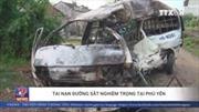 Hiện trường vụ tảu hỏa đâm trực diện xe 16 chỗ tại Phú Yên