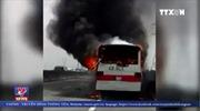 Xe khách bị cháy rụi trên cao tốc TP Hồ Chí Minh - Trung Lương