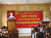 Bắc Ninh: Phổ biến văn bản pháp luật mới ban hành có hiệu lực từ năm 2017