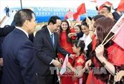 Chủ tịch nước gặp gỡ cán bộ Đại sứ quán và đại diện cộng đồng Việt Nam tại Belarus