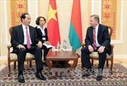 Chủ tịch nước Trần Đại Quang hội kiến Thủ tướng Belarus Andrei Kobyakov
