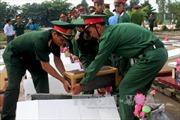 Truy điệu, an táng 21 hài cốt liệt sỹ quân tình nguyện hy sinh tại Campuchia