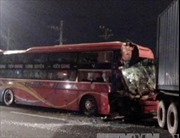 Vĩnh Phúc: Xe khách va chạm xe tải, 24 người bị thương