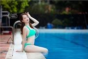 Thí sinh Miss Photo 2017 'nóng bỏng' trong bikini 2 mảnh 'Màu xanh lá'