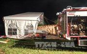 Bão lớn gây sập lều cắm trại tại Áo, hơn 100 người thương vong