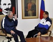 Hồi phục hậu phẫu, tổng thống Chavez gặp lãnh tụ Fidel Castro
