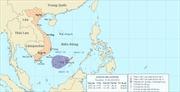 Áp thấp nhiệt đới di chuyển theo hướng giữa Tây và Tây Tây Nam