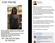 Tìm được mẹ nhờ đăng tin trên Facebook