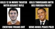 Tổng thống Obama bị so sánh với sát thủ rạp chiếu phim