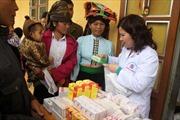 Hội chữ thập đỏ Việt Nam khám chữa bệnh và tặng quà Tết tại Sơn La