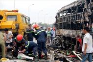Ô tô tải đâm nhau, tài xế tử nạn tại chỗ