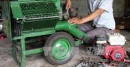 Lão ngư đam mê chế tạo máy nông nghiệp