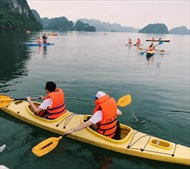 8 khu vực được chèo thuyền kayak trên vịnh Hạ Long