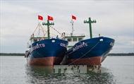 Quảng Nam hạ thủy đôi tàu vỏ sắt đóng mới theo Nghị định 67