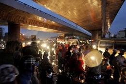 TP.HCM: Tai nạn liên hoàn, kẹt cứng Quốc lộ 1A