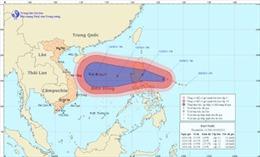 Bão Nari mạnh cấp 14 tiến gần Biển Đông