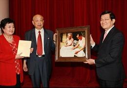 Chủ tịch nước tiếp đoàn thân nhân cựu cố vấn Trung Quốc từng giúp Việt Nam chống Pháp