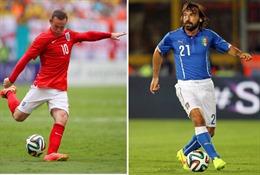 Manaus, 5h ngày 15/6: Anh - Italy: Thành - bại tại Rooney - Pirlo?