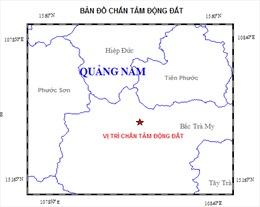 Liên tục xảy ra rung chấn tại huyện Bắc Trà My, Quảng Nam