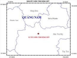 Động đất 2,6 độ richter tại Bắc Trà My, Quảng Nam
