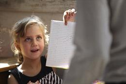 Lớp học trong vùng chiến sự ở Syria