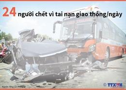24 người chết vì tai nạn giao thông mỗi ngày