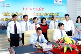 TTXVN và Đà Nẵng ký thỏa thuận hợp tác thông tin