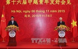 Tổng Bí thư và Chủ tịch Trung Quốc gặp đại biểu thanh niên hai nước