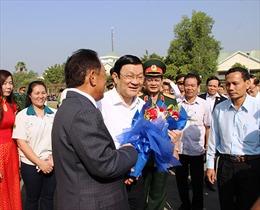 Chủ tịch nước Trương Tấn Sang chúc Tết tại Tây Ninh
