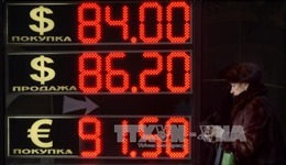 Đồng ruble của Nga tăng mạnh nhất kể từ đầu năm