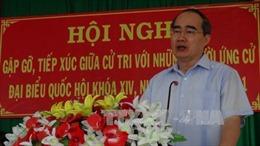 Đồng chí Nguyễn Thiện Nhân kiểm tra công tác chuẩn bị bầu cử tại TP HCM