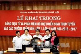 Hà Nội: Ngày đầu tiên tuyển sinh đầu cấp trực tuyến