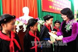 Phó Chủ tịch nước dự Ngày hội Đại đoàn kết tại Hà Giang