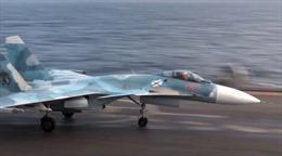 Trở về từ Syria, chiến đấu cơ Su-33 của Nga rơi xuống biển