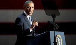 Phát biểu từ biệt, ông Obama nhấn mạnh 'chuyển giao quyền lực hòa bình'