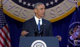 Ông Obama cám ơn người Mỹ 'đã giữ cho tôi bước tiếp'