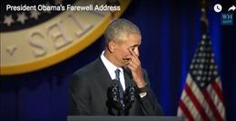 Chuẩn bị từ biệt Nhà Trắng, ông Obama nói lời đáy lòng về vợ con trong nước mắt