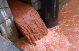 Video clip về cống xả nước thải màu đỏ không phải được quay ở Formosa Hà Tĩnh
