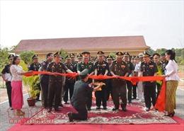 Khánh thành công trình Việt Nam tài trợ cho trường Công binh Campuchia