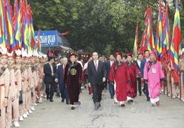 Chủ tịch nước Trần Đại Quang dâng hương Lễ Giỗ Tổ Hùng Vương