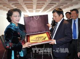 Chủ tịch Quốc hội gặp đại diện người Việt tại châu Âu