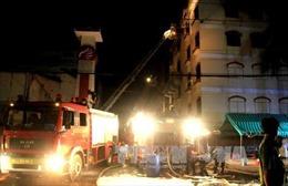 Hỏa hoạn bất ngờ bùng phát trở lại tại khu công nghiệp Trà Nóc