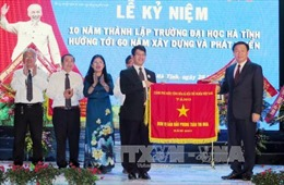 Phó Thủ tướng Vương Đình Huệ dự Lễ kỷ niệm 10 năm thành lập Trường Đại học Hà Tĩnh