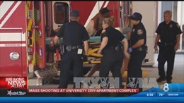 Lại xả súng ở Mỹ, ít nhất 8 người bị thương