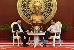 Đồng chí Lê Quốc Phong thăm Đại sứ quán Việt Nam tại Trung Quốc