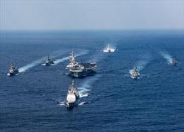 Gửi thông điệp cứng rắn tới Triều Tiên, hai siêu tàu sân bay Mỹ tập trận chung