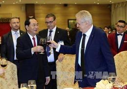 Chủ tịch nước Trần Đại Quang chiêu đãi chào mừng Tổng thống Cộng hòa Séc